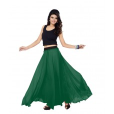 SGLS148 Designer Faux Georgette Plain Skirt